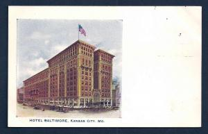 Hotel Baltimore Kansas City Missouri unused c1905