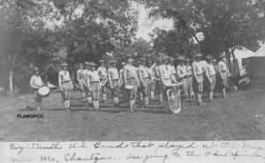SPRINGFIELD, MO.18th U.S. ARMY  BAND GROUP PHOTO-1907 RPPC REAL PHOTO POSTCARD