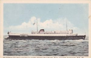 Ice Breaking Car Ferry, C.N.R., Near Cape Tormentine, New Brunswick, and Port...