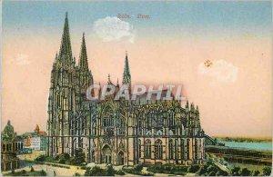 Postcard Old Koln Dom
