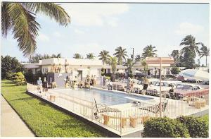 Hollywood FL Harris House Motels Swimming Pool Old Cars Postcard 2