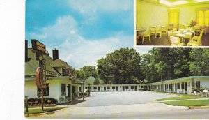 OPELIKA , Alabama, 50-60s ; 2-Views of Golden Cherry Motel