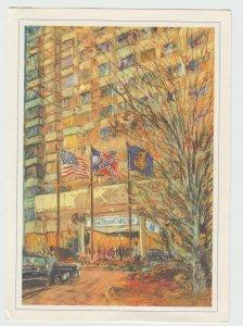 Vintage Ritz Carlton Atlanta Georgia KAMIL KUBIK Painting Postcard Signed