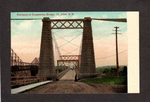 NB Suspension Bridge St John New Brunswick Canada Carte Postale Postcard