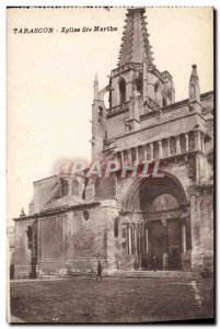 Old Postcard Tarascon Church Ste Marthe