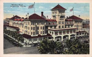 Windsor Hotel, Jacksonville, Florida, Early Postcard, Unused