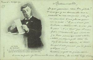 PC CPA FREEMASONRY, LE VOTE DE DEMAIN 1901, Vintage Postcard (b14630)