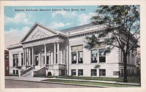 Indiana Terre Haute Emeline Fairbanks Memorial Library