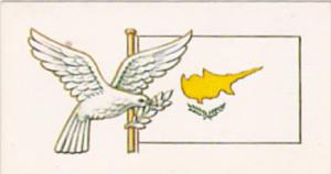 Vintage Trade Card Brooke Bond Tea Flags and Emblems Of The World No 10 Cyprus