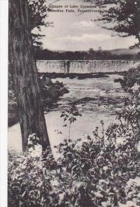 Pennsylvania Paradise Falls A Glimpse Of Lake Crawford Dam Albertype