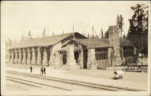 West Yellowtone MT UP Dining Lodge Real Photo Postcard