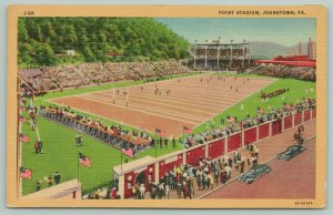 Johnstown PA Sargent Football Stadium @ The Point on Game Day~Stands Crowd 1934