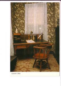 Lincoln's Desk, Lincoln's Home, Interior, Springfield, Illinois,