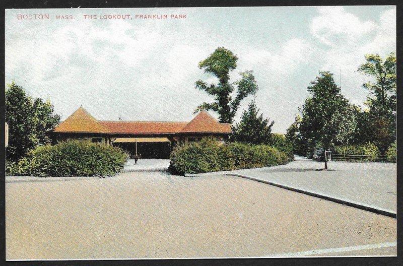 The Lookout Franklin Park Boston Massachusetts Unused c1910s