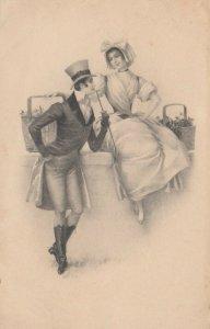 M.M.VIENNE Nr. 391 , 1900-10s , Romance Couple : M. MUNK