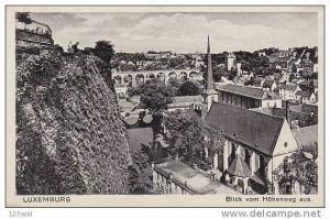 Luxembourg Blick vom Hohenweg aus -10s-20s