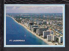 Bird's Eye View,Fort Lauderdale,FL Postcard BIN