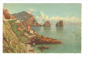 CAPRI - I faraglioni e la piccola marina, ITALY, 1910-30s