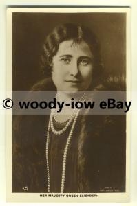 r0231 - Queen Elizabeth ( Bowes-Lyon ) with pearls - postcard