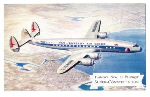 Eastern New 88 Passenger Super Constellation Postcard