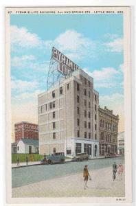 Pyramid Life Insurance Little Rock Arkansas 1920c postcard