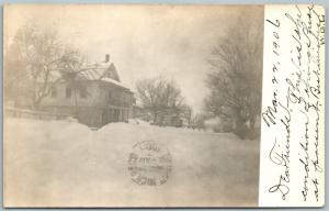 STERLING PA WINTER VIEW 1906 ANTIQUE REAL PHOTO POSTCARD RPPC
