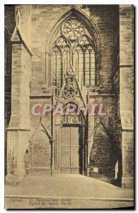 Postcard Colmar Old St. Martin's Church Portal
