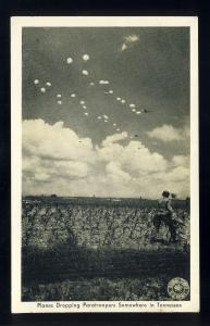 Tennessee/TN Postcard, Planes Dropping Paratroopers Somewhere In Tennessee