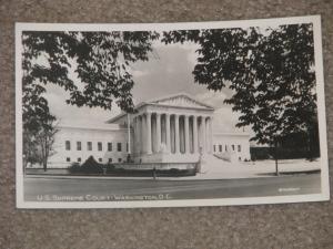 RPPC,  U.S. Supreme Court-Washington, D.C. , by Rideout, unused vintage card