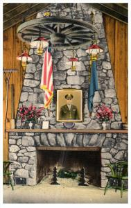 1341  NH Rindge  Cathedral of the Pines Hilltop House Fireplace War Memorial