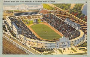 Chicago Illinois~Soldiers Field And Field Museum~1940 Postcard