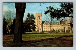 South Bend IN- Indiana, St Mary's College, Le Mans Hall, Chrome Postcard