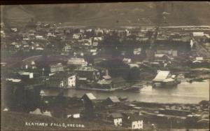 Klamath Falls OR Birdseye View c1910 Real Photo Postcard