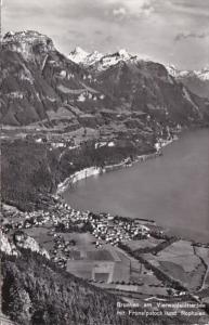 Switzerland Brunnen am Vierwakdstaettersee mit Fronalpstock und Rophaien 1960...