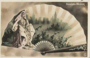 RP: Art Nouveau Fan Portrait , PU-1907 ; SEGOND-WEBER