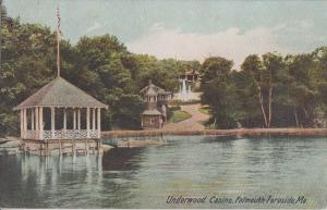 Falmouth Foreside Maine - Underwood Bathing Casino / BURNED DOWN 1907