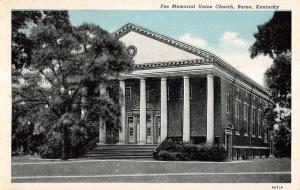 Berea Kentucky Fee Memorial Union Church Entrance Antique Postcard K12453