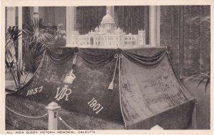 All India Queen Victoria Memorial Calcutta Antique Postcard