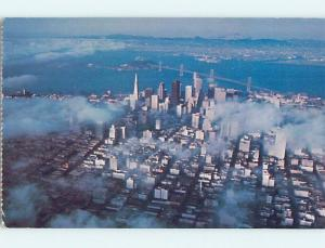 1981 an AERIAL VIEW ON A FOGGY DAY San Francisco California CA A4939