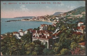France Menton (Alpes Maritime) view of old town & bay 1914 mailed