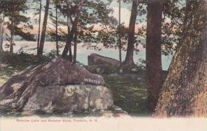 New Hampshire Franlin Webster Lake And Wabster Rock