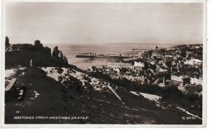 Post Card Sussex HASTINGS from Hastings Castle Valentines