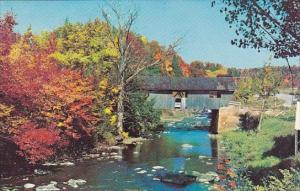 Old Covered Bridge At Johnson Vermont