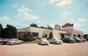 Dyer Indiana~Teibel's Restaurant~Chicken~ART DECO Building~NICE Early 1950s Cars