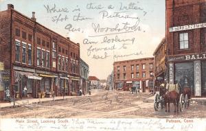 Putnam Connecticut~Main Street South~Undertakers~Furniture~Horse Wagon~1906 PC