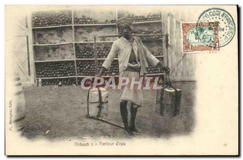Old Postcard Djibouti Somalis Water Bearer TOP