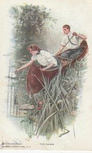 Couple , The Canoe , 1910