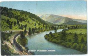 D/B Railroad Gateway to Missoula Montana MT 1908