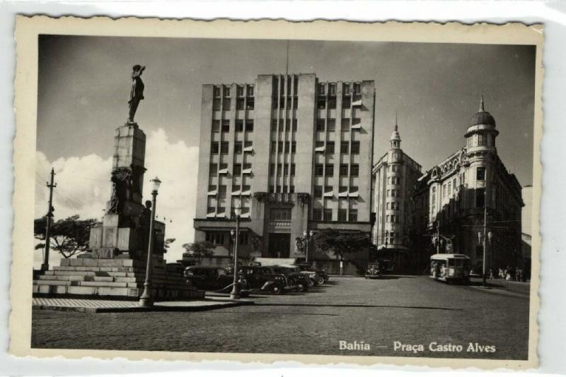 brazil, BAHIA, Praca Castro Alves, Tram (1940s) Real Photo