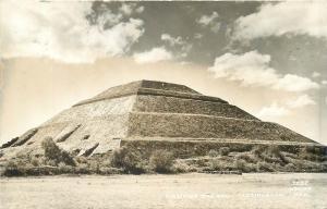 Mexico Real Photo Postcard Piramide del Sol Teotihuacan Pyramid Osuna